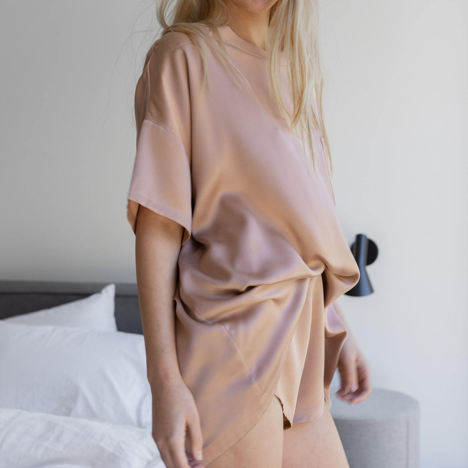 Washable Silk Tee Set