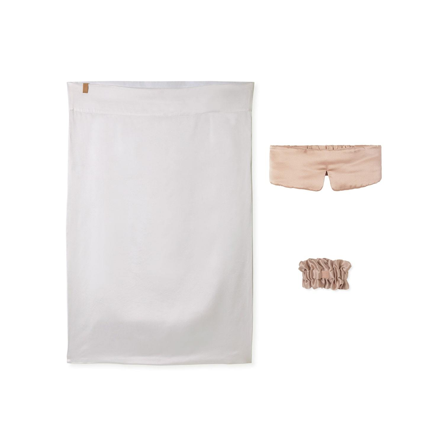 Lunya Sleepwear Washable Silk Nightstand Kit - #Bare/White