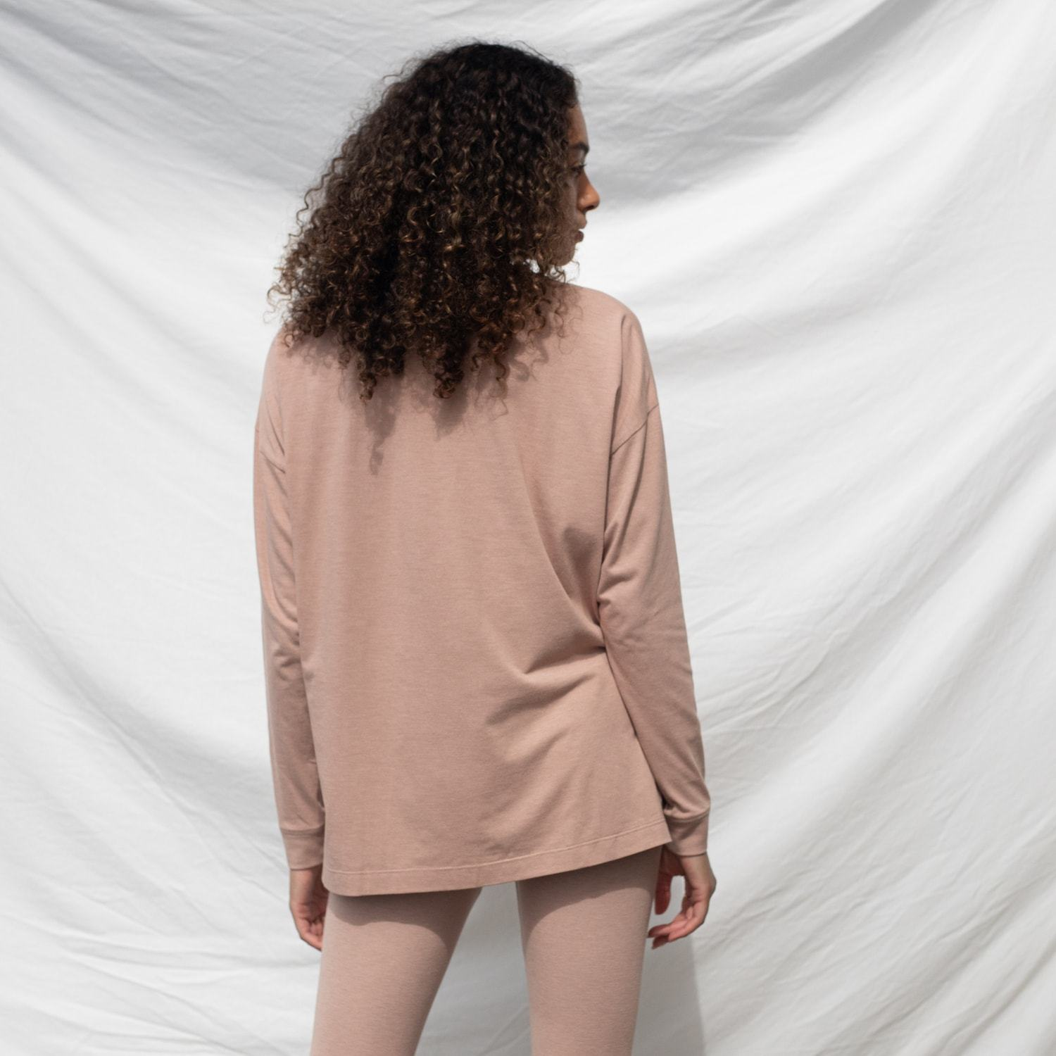 Lunya Sleepwear Long Sleeve Tee - #Bare
