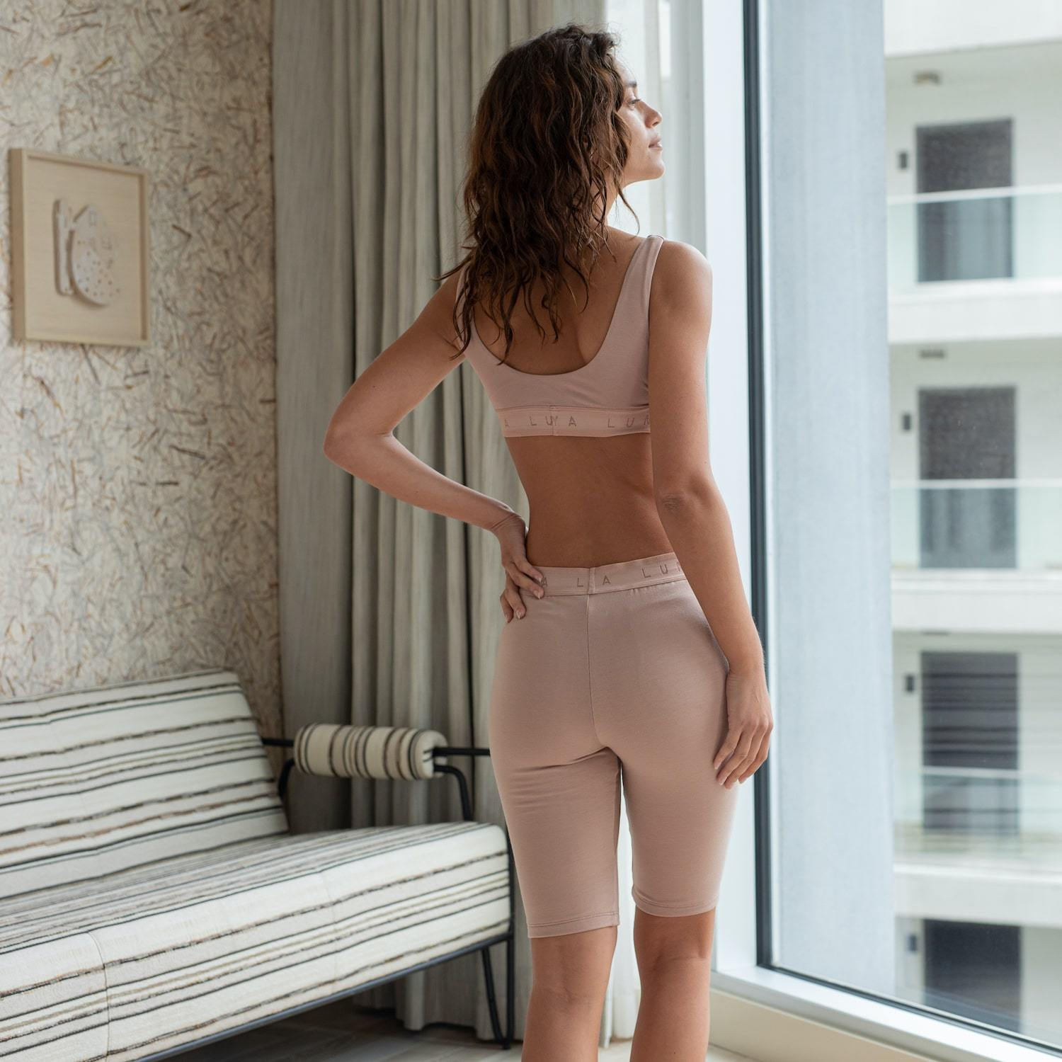 Lunya Sleepwear Siro Bike Short - #Bare/Bare