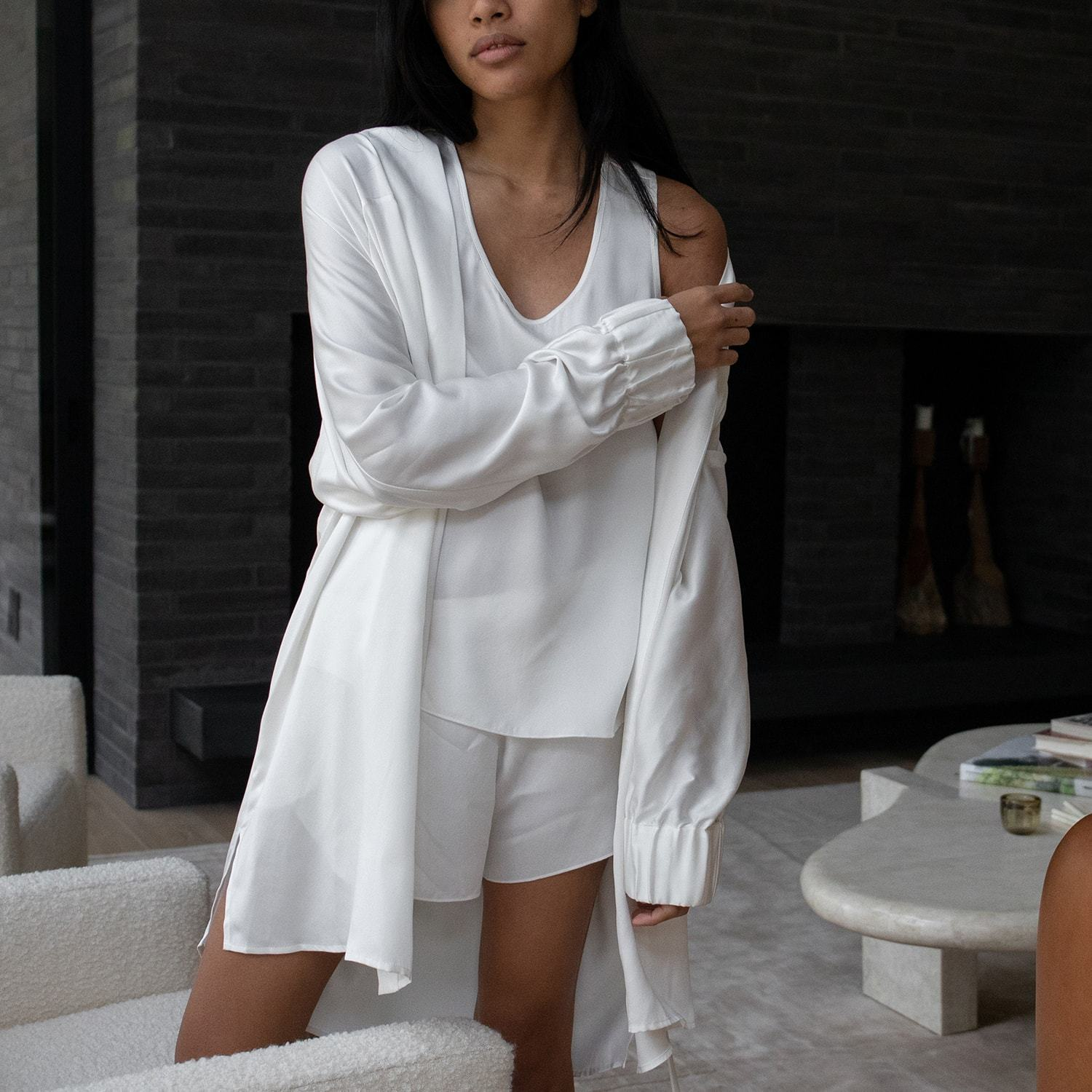 Lunya Sleepwear Washable Silk Robe - #Starlight