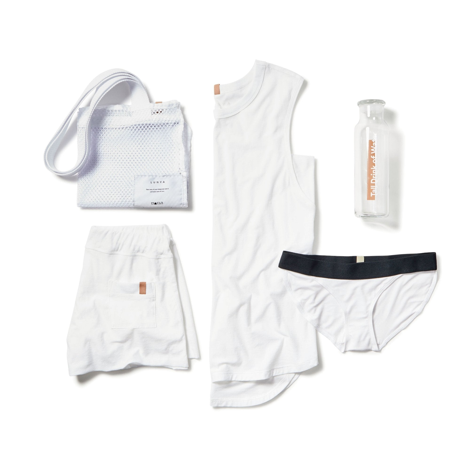 Lunya Sleepwear Cool Kit - #White