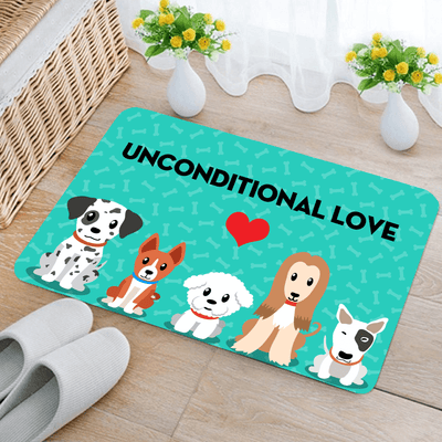 Dog Love Woa Kitchen Mat