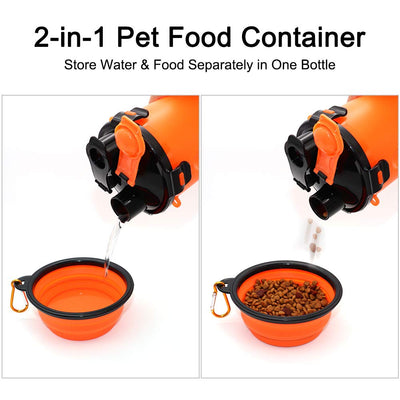 WOA 2 In 1 Travel Dog Feeder Cup
