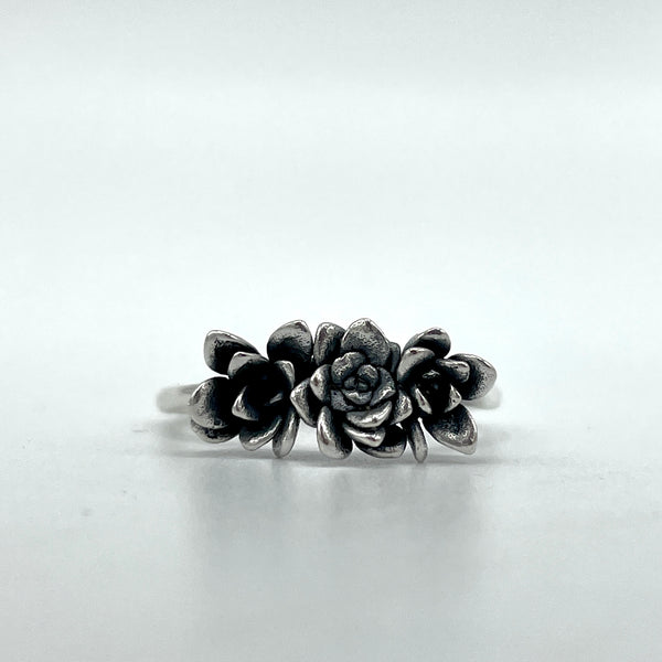 Triple Succulent Ring