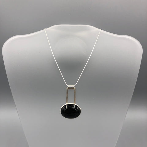 Reversible Pierced Onyx Necklace