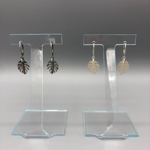 Mini-Monstera Earrings