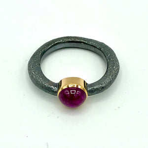 Rustic Ruby Ring