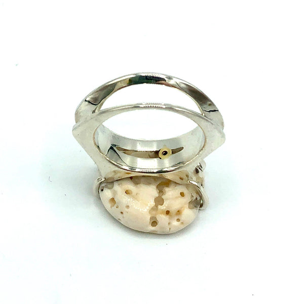 Puka Shell Ring with Diamond