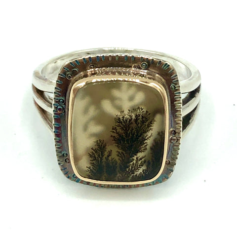 Dendritic Agate Reef Ring