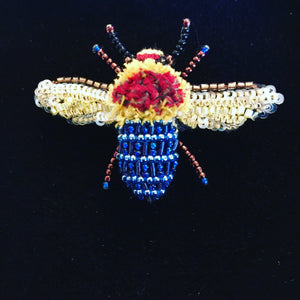 Blue-banded Bee Brooch