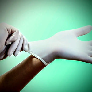 NITRILE GLOVES - MEDIUM WHITE (100 PACK)