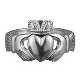 Ladies and Gents Silver Standard or Heavy Claddagh Ring