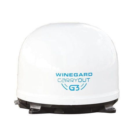 Winegard® Carryout G3 Automatic Portable Satellite TV Antenna, White GM-9000