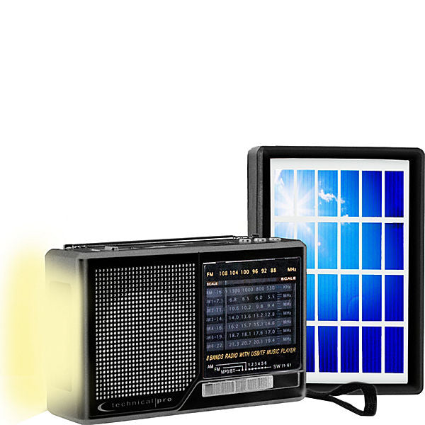 Technical Pro Solar Powered AM/FM/SW Portable Radio