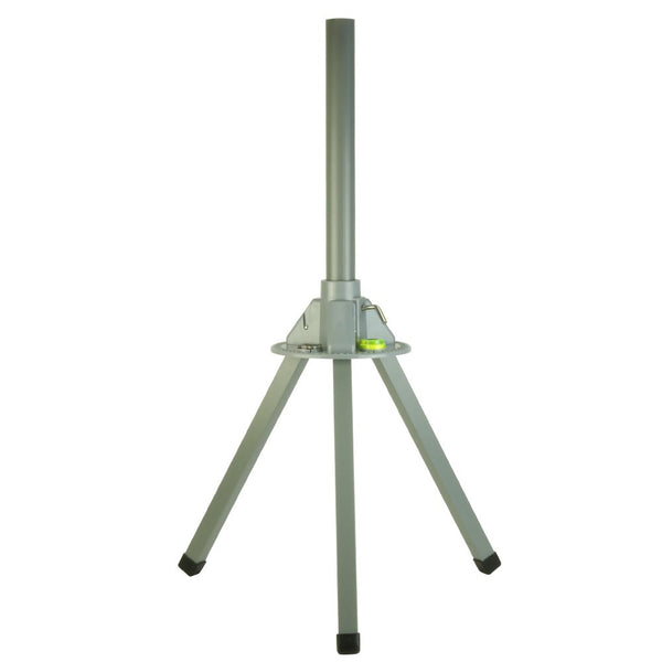 Tripod with Dish Level and Compass Temporary setup