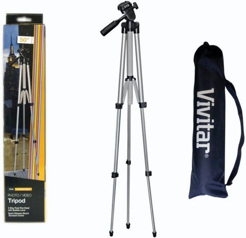 "Vivitar VPT-1250 50"" Tripod 50"" Vivitar 50 inch Camera Video Tripod"