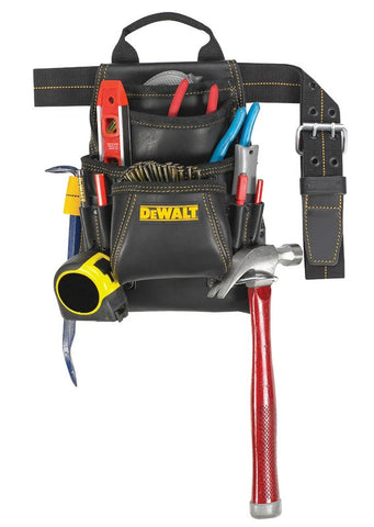 DeWalt DG5433 10-Pocket Carpenter's Leather Tool Belt Combo