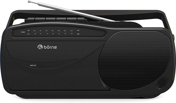 Borne Portable AM/FM Radio with Cassette Player/Recorder (PRCST100)™