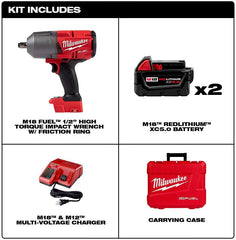 Milwaukee 2767-22 M18 18-V Brushless Cordless 1/2 in. Impact Wrench w/Friction Ring Kit