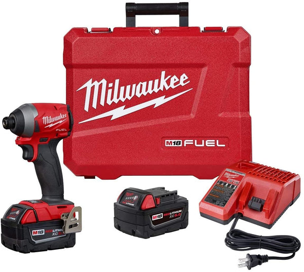 Milwaukee 2853-22 M18 FUEL 1/4″ Hex Brushless Impact Driver Kit