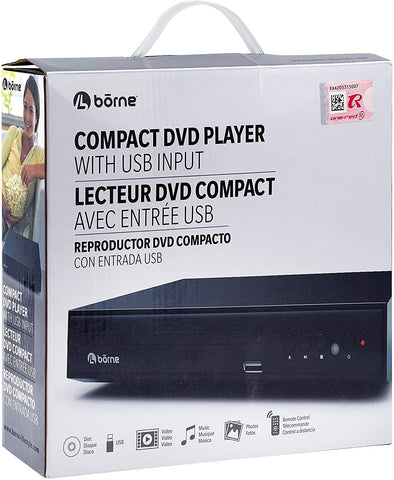 Borne Front Loading Compact DVD Player