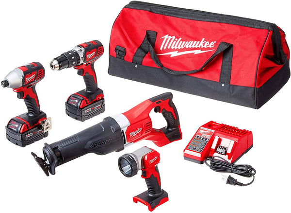Milwaukee 2696-24 M18 Cordless LITHIUM-ION 4 tool combo set