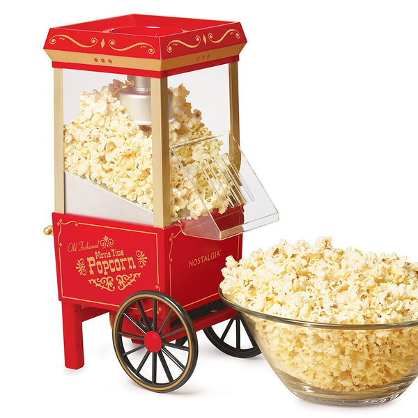 Nostalgia Electrics 12-Cup Old-Fashioned Movie Time Popcorn Maker - Red/Gold