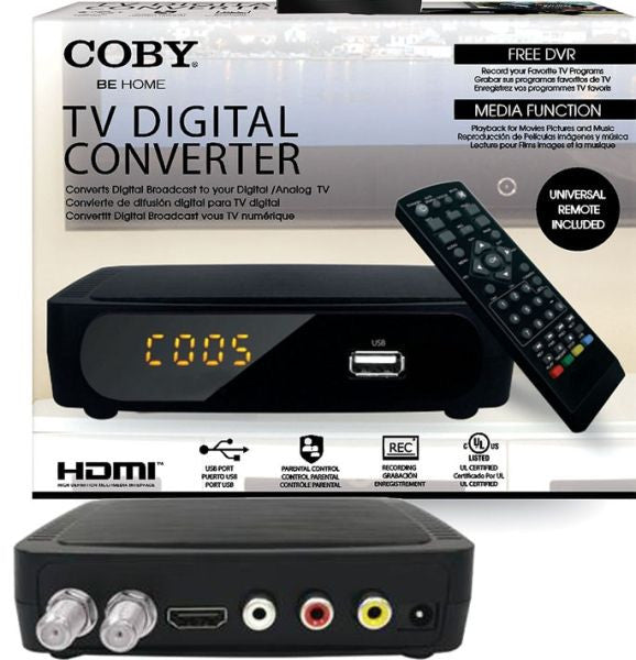 Coby Cstb 600 Usb Multimedia Player Digital Converter Box
