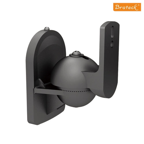 Brateck One Pair Universal Adjustable Satellite Speaker Wall Mount Bracket Tilt Swivel