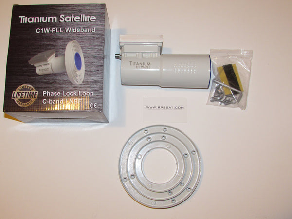 Titanium Satellite C1W-PLL C-band LNBF Single WiMAX Filter 4G LTE