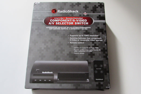 radio shack 15 316 4 way rc component s video av switch selectorradio shack 15 316 4 way rc component s video av switch selector with rps satellite