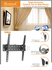 "Brateck Super Economy Tilt TV Wall Mount for 32""-55"" LED/LCD Flat Panel TV's"