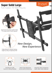 "Super Solid Dual Arm Large Full Motion TV Wall Mount 37""-90"" LED,LCD Curved &Flat Panel TV's"