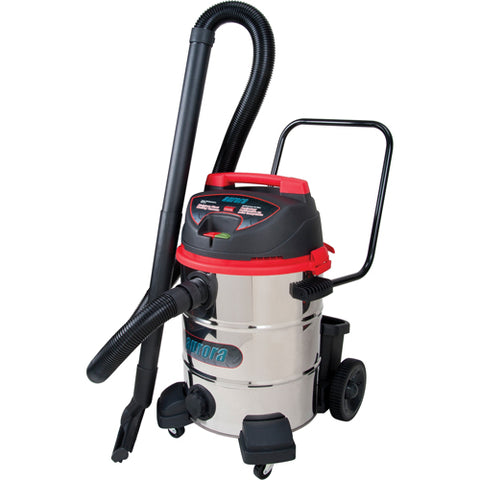 Aurora Tools Industrial Wet/Dry Stainless Steel Vacuum, 16 US Gal. With Accessories