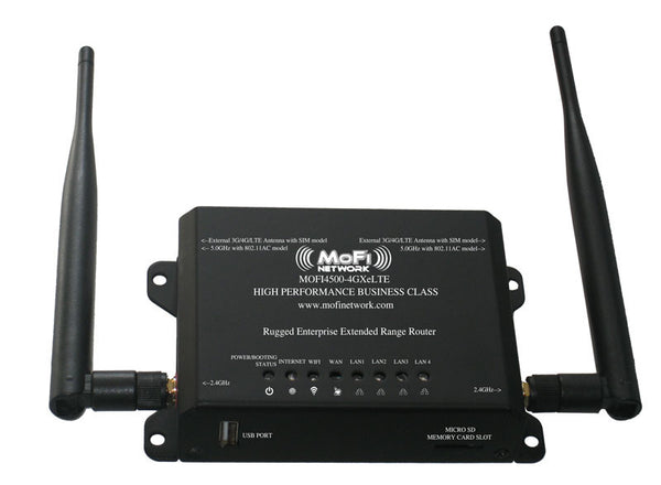 MoFi 4500 3G/4G/LTE Broadband Router- Wireless N WiFi - MOFI4500-4GXeLTE EHF Fee included
