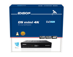 Edision OS Mini 4K UHD DVB S2X E2 Linux Satellite Receiver FTA Free to air