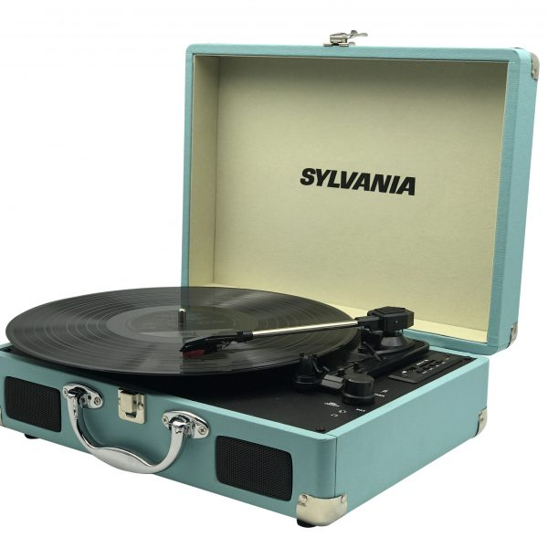 Sylvania Bluetooth Retro Turntable with Stand & FM Radio