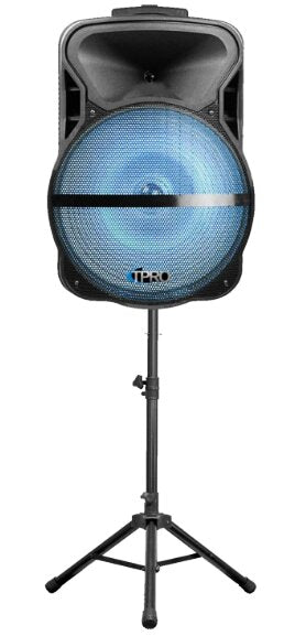 "Technical Pro 15"" Bluetooth® LED Loudspeaker Pro Pack with Tripod & Mic"