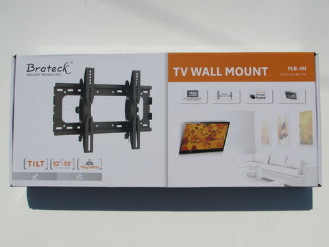 "Brateck 32""-55"" flat tv wall mount with tilt High Quality 75kg 165lbs"