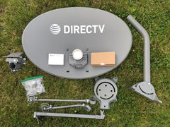 Direct TV SWM Slimline Satellite Dish DTV SL3 Full Kit