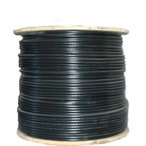 1000' FT RG6 RG-6 COAX COAXIAL Quad Shielded Solid Copper Core Conductor Bare