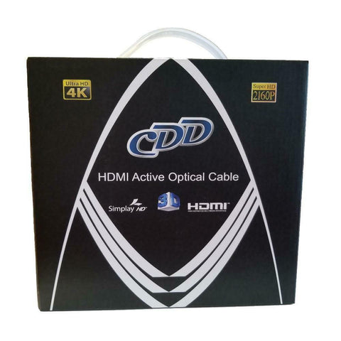 CDD High Speed HDMI 2.0 Active Optical Cable Long Length 4K 18 GBS