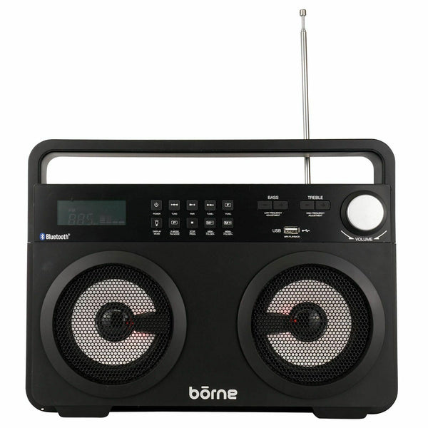Borne High Performance Wireless Bluetooth Boombox Portable Speaker With FM Radio