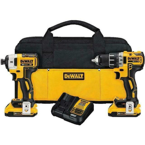 DEWALT DCK283D2 MAX XR Lithium Ion Brushless Compact Drill Driver & Impact Drive