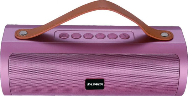 Sylvania Tube Wireless Bluetooth Speaker with Leather Strap USB FM Radio