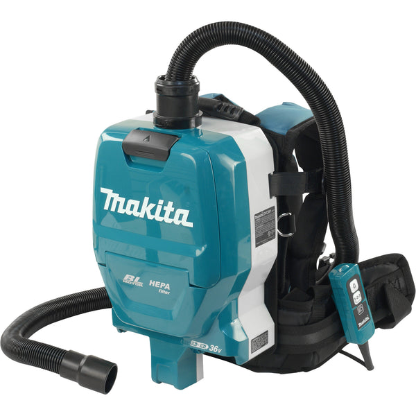 Makita DVC261ZX 18Vx2 LXT Cordless Backpack Vacuum Cleaner 2.0 L