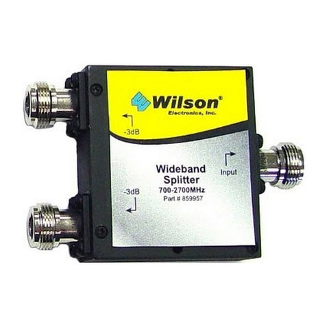 Wilson 859957 2-Way Splitter 50 Ohm Wide Band 700-2700 MHz for Signal Booster