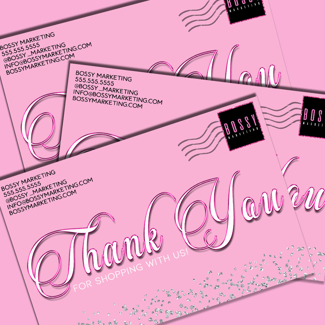 Mailer Thank You card
