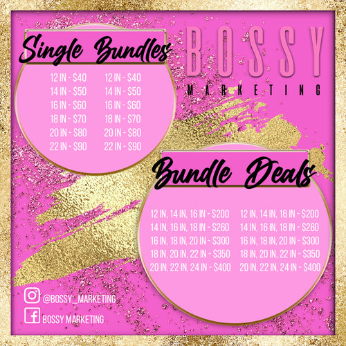 Glitz and Glam Price List (Pink and Gold)
